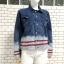 ส่ง:งานจีนเสื้อคลุมแจ็คเก็ตยีนส์แท้แบบเก๋ๆสวยๆ/อก40 thumbnail 1