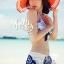 ผ้าคลุมเดินชายหาด ผ้าชายทะเล : ผ้าชีฟอง size 150x100 cm - ลายดอกไม้น้ำเงินพื้นขาว thumbnail 5