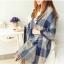 ผ้าพันคอ ผ้าคลุมพัชมีนา Pashmina ลายตาราง size 200x60 cm - สี ligh blue thumbnail 1
