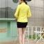 เสื้อเชิ้ตแฟชั่นผู้หญิงแขนยาว สีเหลือง thumbnail 8