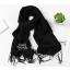 ผ้าพันคอ ผ้าคลุมพัชมีนา Pashmina scarf size 160 x 60 cm - สีดำ thumbnail 5