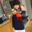 ผ้าพันคอ ผ้าคลุมพัชมีนา Pashmina scarf ลายตาราง size 200x60 cm - สี Red blue thumbnail 10