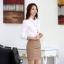 เสื้อเชิ้ตทำงานผู้หญิงแขนยาว สีขาว thumbnail 4