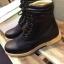 รองเท้าผู้ชาย | รองเท้าแฟชั่นชาย Black Boots หนัง Oiled Pull Up กันน้ำ กันหิมะ กันรอยขูดขีดได้จริง thumbnail 2