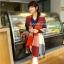 ผ้าพันคอ ผ้าคลุมพัชมีนา Pashmina scarf ลายตาราง size 200x60 cm - สี Red blue thumbnail 3