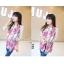 ผ้าพันคอแฟชั่นลายโซ่ Chiffon Coach : สีชมพูเข้ม : ผ้าพันคอ Silk Chiffon 160x60 cm thumbnail 5