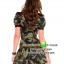 ชุดทหารสาวลายพราง ชุดแฟนซีทหาร ชุดแฟนซีเครื่องแบบ ชุดคอสเพลย์ ชุดแฟนซีสีเขียว thumbnail 2