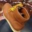 รองเท้าผู้ชาย | รองเท้าแฟชั่นชาย Tan Boots หนังชามัวร์ (หนังลูกวัวแท้) thumbnail 4