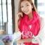 ผ้าพันคอแฟชั่น Cotton Candy : สี Rose Pink thumbnail 3