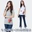 เสื้อยืดคอกลมแขนสั้นปักนูนลายดอกไม้ สีขาว/สีเทา/สีดำ (2XL,3XL,4XL,5XL,6XL)
