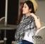 ผ้าพันคอชีมัค Shemash : สีขาวดำ size 100 x 100 cm thumbnail 1