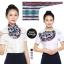 ผ้าพันคอสำเร็จรูป ผ้ายูนิฟอร์ม uniform ผ้าไหมซาติน : L14 thumbnail 1