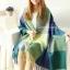 ผ้าพันคอ ผ้าคลุมพัชมีนา Pashmina ลายตาราง size 200x60 cm- สี Green Blue thumbnail 1
