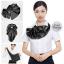 ผ้าพันคอสำเร็จรูป ผ้าไหมซาติน : solid black สีดำ สีพื้น thumbnail 2