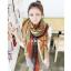 ผ้าพันคอ ผ้าคุลมไหล่ ลายทาง Zigzag Viscose - size 160x75 cm - สีน้ำตาล thumbnail 1