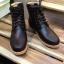 รองเท้าผู้ชาย | รองเท้าแฟชั่นชาย Black Boots หนัง Oiled Pull Up กันน้ำ กันหิมะ กันรอยขูดขีดได้จริง thumbnail 3