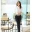 เสื้อเชิ้ตทำงานผู้หญิงแขนยาวแฟชั่นสีขาว thumbnail 11