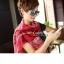 ผ้าพันคอลายกวาง Deer Scarf : สีแดง ผ้า viscose size 180x80 cm thumbnail 2