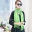 ผ้าพันคอ ผ้าคลุมพัชมีนา Pashmina scarf size 160 x 60 cm - สีเขียว thumbnail 4