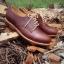 รองเท้าผู้ชาย | รองเท้าแฟชั่นชาย Red Brown Cut Shoes หนัง Oiled Pull Up thumbnail 1