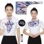 ผ้าพันคอสำเร็จรูป ผ้ายูนิฟอร์ม uniform ผ้าไหมซาติน : L45 thumbnail 1