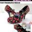 Shoes105 Red Cherry High heel Shoes ใหม่! รองเท้าคัชชูส้นสูงลายเชอรี่ น่ารักมากมีสายคาดถอดง่าย ไซส์ 37 thumbnail 1