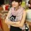 ผ้าพันคอวินเทจ ลาย Porcelian : ผ้าพันคอ Viscose 160 x 80 cm สี Pastel pink thumbnail 4