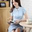 เสื้อเชิ้ตทำงานผู้หญิงแขนสั้น สีขาว thumbnail 6