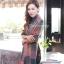 ผ้าพันคอ ผ้าคลุมพัชมีนา Pashmina scarf ลายตาราง size 200x60 cm - สี Dark Green thumbnail 6