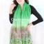 ผ้าพันคอลายทุ่งดอกไม้ Flower Garden : สีเขียว ผ้า Viscose size 180x90 cm thumbnail 3