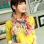 ผ้าพันคอลายดอกไม้ Blossom Bloom : Light Pink ผ้า Viscose size 180x90 cm thumbnail 6