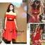 แบบสาวชมพู่ Self portrait red sexy dress ATA485 เดรสสไตล์แบรนด์ดัง self portrait สีแดงสวยแจ่มมากใส่แบบไหล่ตกหรือพาดไหล่แบบชมพู่โชว์เอวนิดๆ stock565 thumbnail 1
