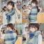 ผ้าพันคอ ผ้าคลุมพัชมีนา Pashmina ลายตาราง size 200x60 cm - สี ligh blue thumbnail 4