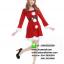 ชุดซานตาครอสสาว ผ้ากำมะหยี่สีแดงขาว ชุดซานตี้ ชุดแฟนซีซานต้า ชุดแฟนซีสีแดง ชุดคอสเพลย์ ชุดซานต้าครอสหญิง thumbnail 3