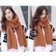 ผ้าพันคอไหมพรมถัก Knit Scarf - size 160x30 cm - สี Brown thumbnail 5