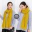 ผ้าพันคอไหมพรม ผ้า cashmere scarf size 180x30 cm - สี mustard thumbnail 3