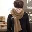 ผ้าพันคอผู้ชาย Man scarf ผ้า cashmere 180x30 cm - สี Coffee thumbnail 4