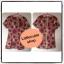 เสื้อผ้าแฟชั่นพร้อมส่ง เดรสผ้าซาตินลายกราฟฟิกแนวเรโทร แขนสั้น ซิปหลังยาว มีซับใน -สีส้ม thumbnail 1