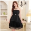 ชุดราตรีผ้าซาติน+ผ้าตาข่าย สีดำ (XL,2XL,3XL) JK-9500