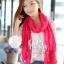 ผ้าพันคอแฟชั่น Cotton Candy : สี Rose Pink thumbnail 4