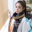 ผ้าพันคอลายทาง Strip Zigzag scarf : ผ้าพันคอ Viscose - size 160x75 cm - สีน้ำเงิน thumbnail 5