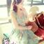 พร้อมส่ง สไตล์ Japanese ViVi 3D Flower dress ATA494 เดรสลูกไม้สองชั้นแขนกุด ติดดอกไม้สามมิติ ผ้าลูกไม้น่ารักสุดๆ โทนฟ้า stock574 thumbnail 1