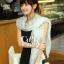 ผ้าพันคอวินเทจ ลาย Porcelian : ผ้าพันคอ Viscose 170 x 80 cm สีเขียว Mint thumbnail 2