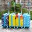 (16 นิ้ว) กระเป๋าเดินทางล้อลากโพลี่คาบอนเนตเนื้อเงา 4 ล้อมุนได้รอบทิศ 360 องศา (ส่งฟรีธรรมดา / ems. 150 บ.) thumbnail 3