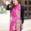 ผ้าพันคอแฟชั่นลายเสือ leopard ผ้าชีฟอง 160x70 cm สีชมพู thumbnail 2