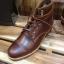 รองเท้าผู้ชาย | รองเท้าแฟชั่นชาย Brown Boots หนัง Oiled Pull Up หนังไม่ยับ ไม่แตก เวลางอขา thumbnail 1