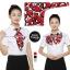 ผ้าพันคอสำเร็จรูป ผ้ายูนิฟอร์ม uniform ผ้าไหมซาติน : L58 thumbnail 1