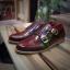 รองเท้าผู้ชาย | รองเท้าแฟชั่นชาย Red Brown Double Monk Strap หนังแท้ ขัดเงา thumbnail 1