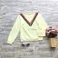 ส่ง:งานจีนเสื้อแต่งแถบกุ๊นวีเก๋ๆ/อก36 thumbnail 1