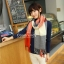 ผ้าพันคอ ผ้าคลุมพัชมีนา Pashmina scarf ลายตาราง size 200x60 cm - สี Red blue thumbnail 6